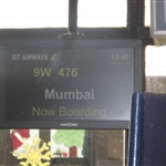 Boarding 13.40 Jet Aiways flight Goa - Mumbai