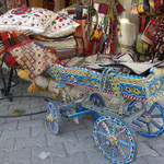 painted wooden cart