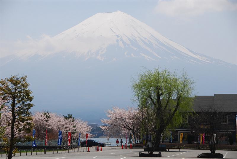 富士山時時可見