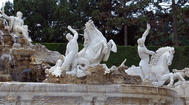 Neptune's Fountain - detail: Schonbrunn Garden