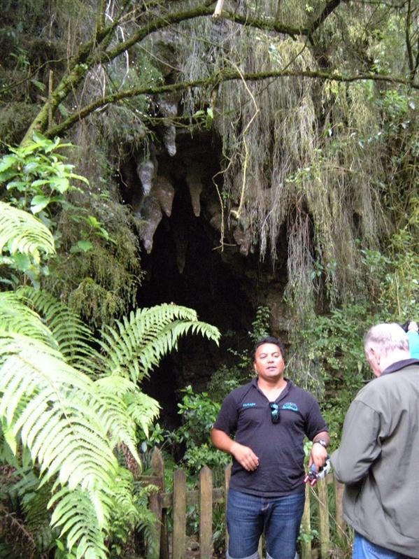 Into the cave at Waitomo