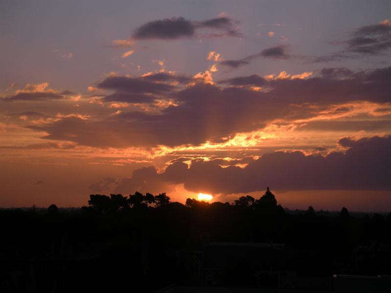 Sunset at Christchurch