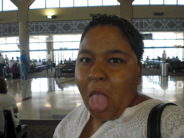 Nikki @ Sky Harbor, waiting for flight