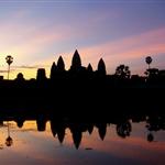 wschod slonca nad Angkor Wat