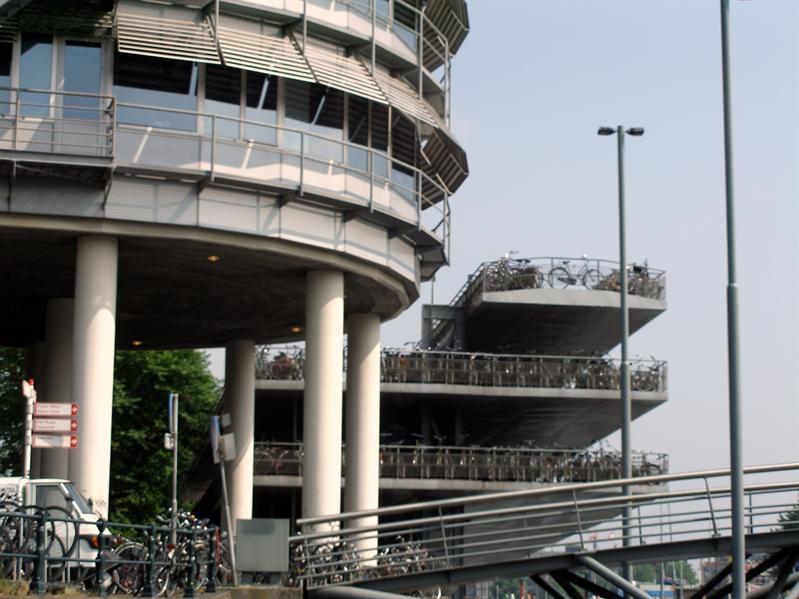 Parking garage for bikes.