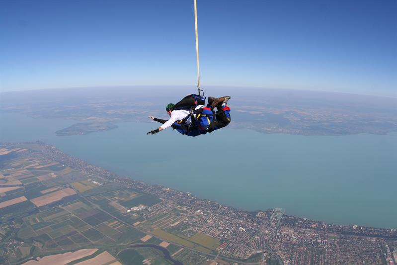 Balaton by skydive