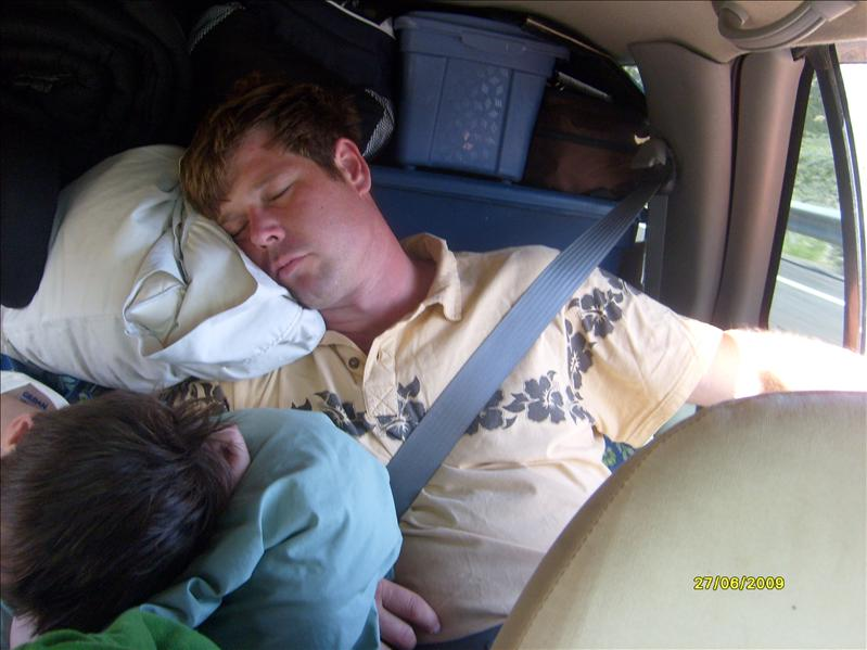 Michael and Josh taking a nap