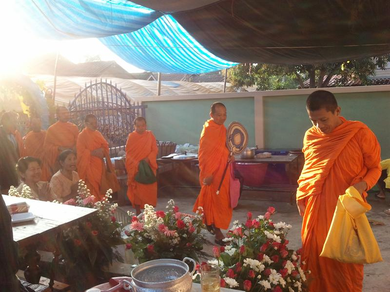 The monks arrive
