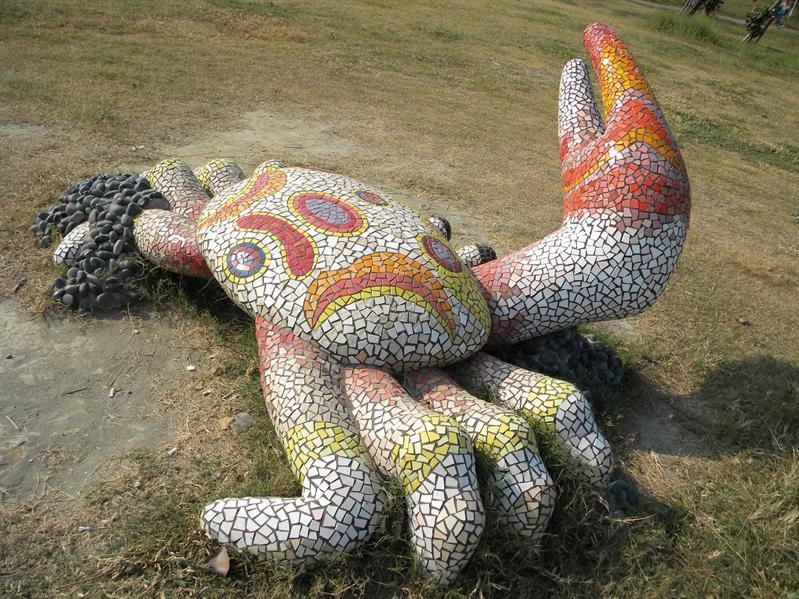 高雄旗津風車公園雕塑