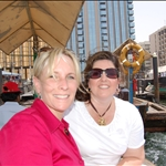 Lori and I on a boat ride down the river