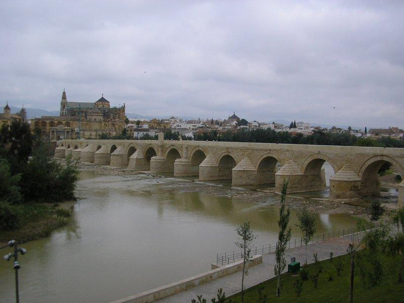 We walked into Cordoba across this bridge.