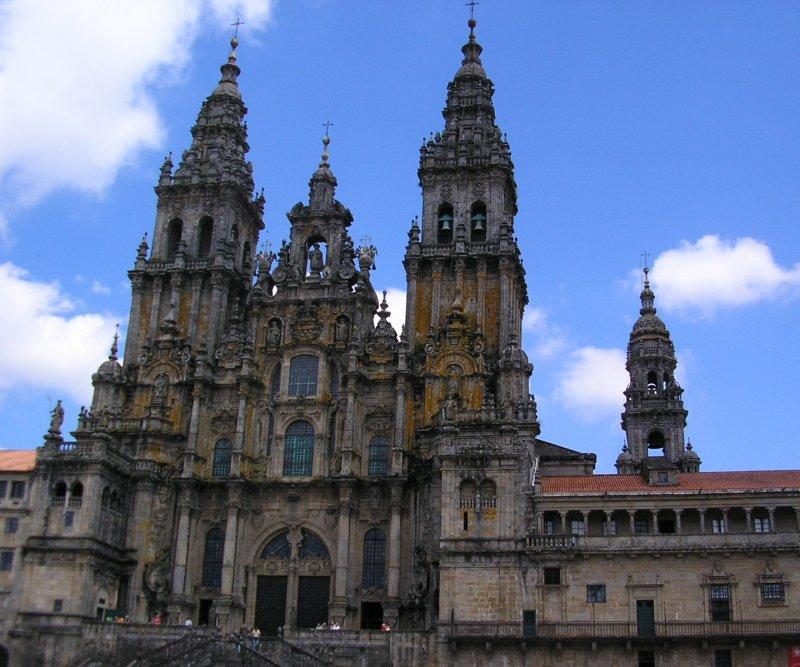 The Praza do Obradoiro facade....