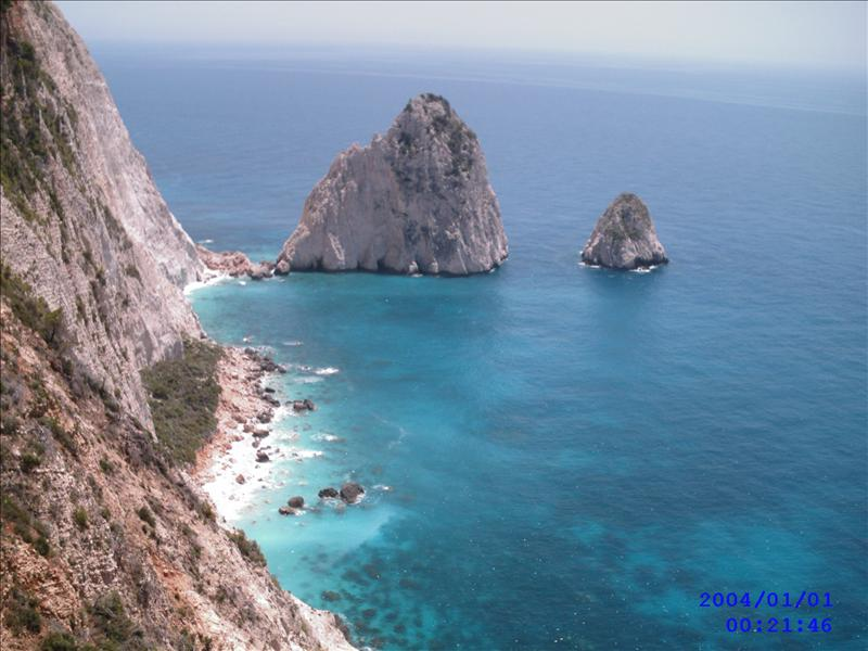 view from kerri lighthouse  zante