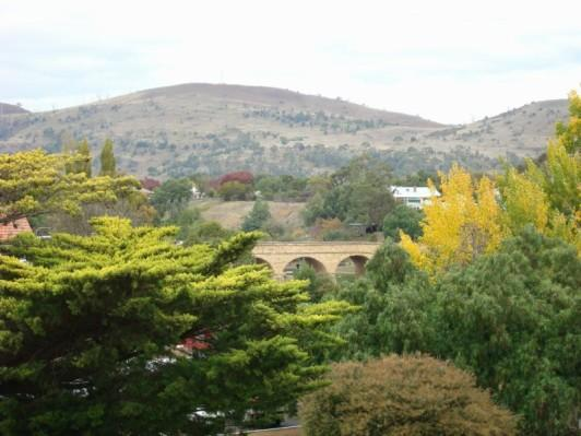 Tasmania suburbs in fall