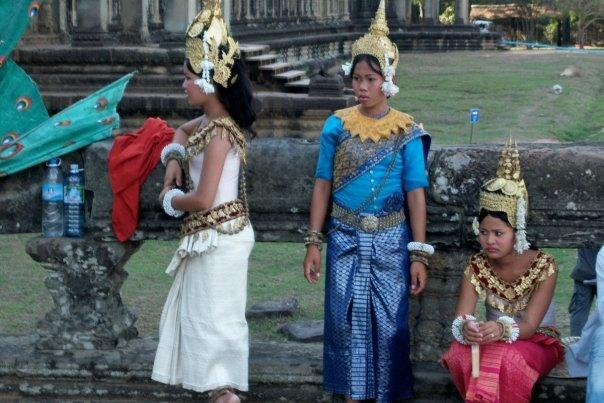 TRADITIONAL DANCERS, ANGKOR WAT - NOT SO HAPPY