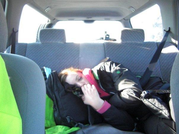 Amy asleep... again