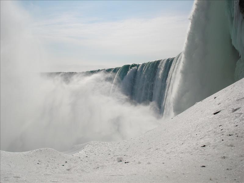 The Niagara under.