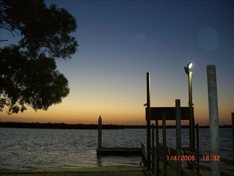the pier..