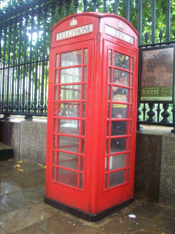 A phone booth, life sized!
