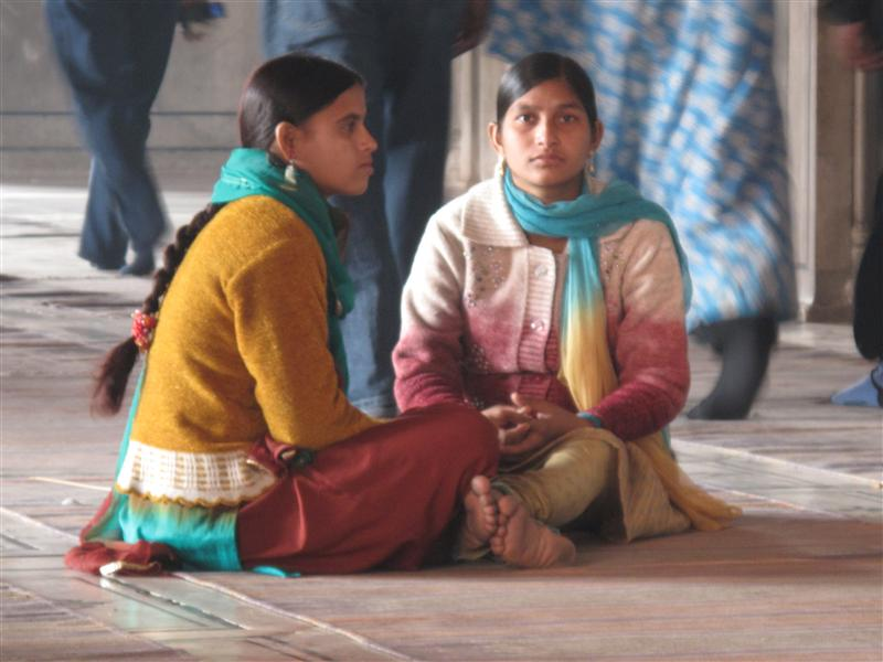 Girls inside Jama Masjid