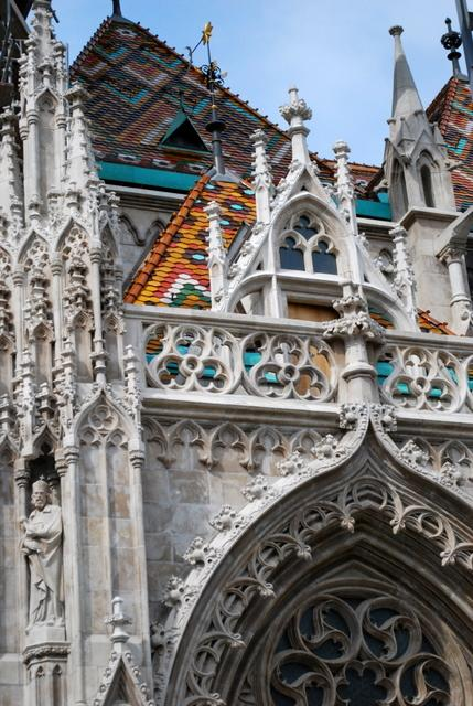 Matthias Church is undergoing renovation to restore its colours