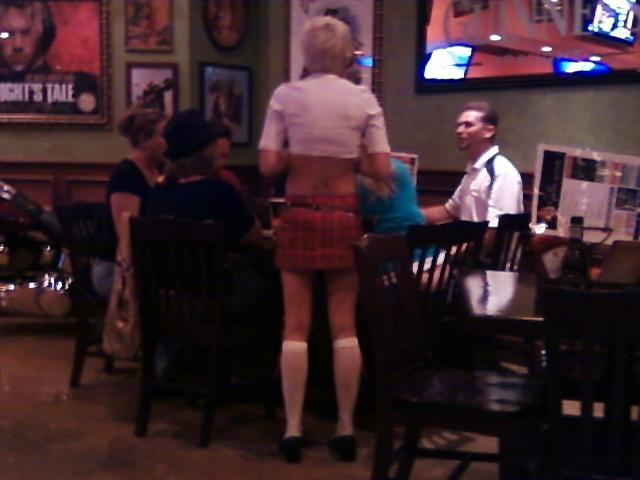 the backside of our very kind  and hot server