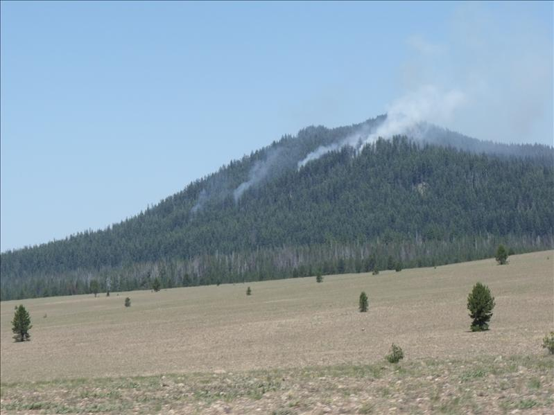 Controlled burns outside of Crater Lake, OR