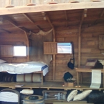 a cross section of the sleeping area