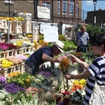 Rambles in London - Columbia St Flower Market; St Katherine