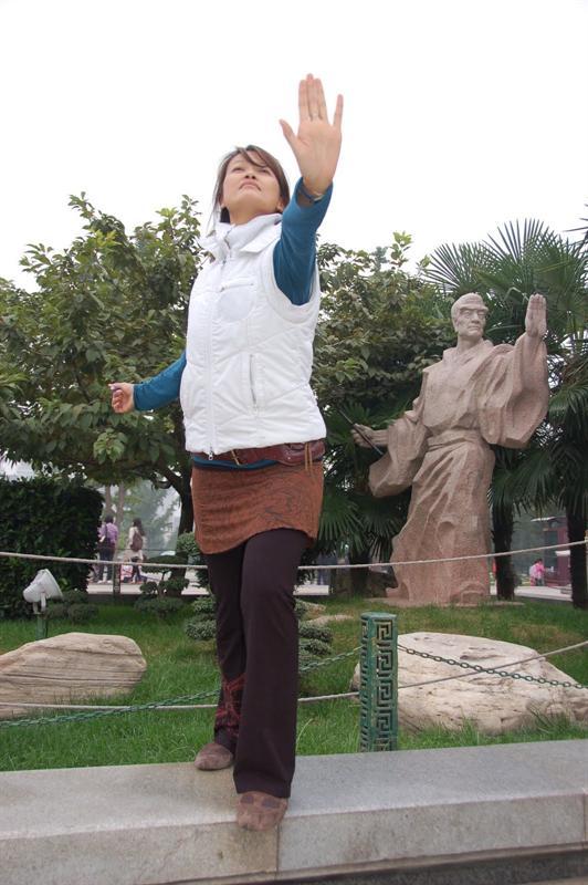 """Big Wild Goose Pagoda Square"" in Xian (西 安). ----大雁 塔 廣 場."
