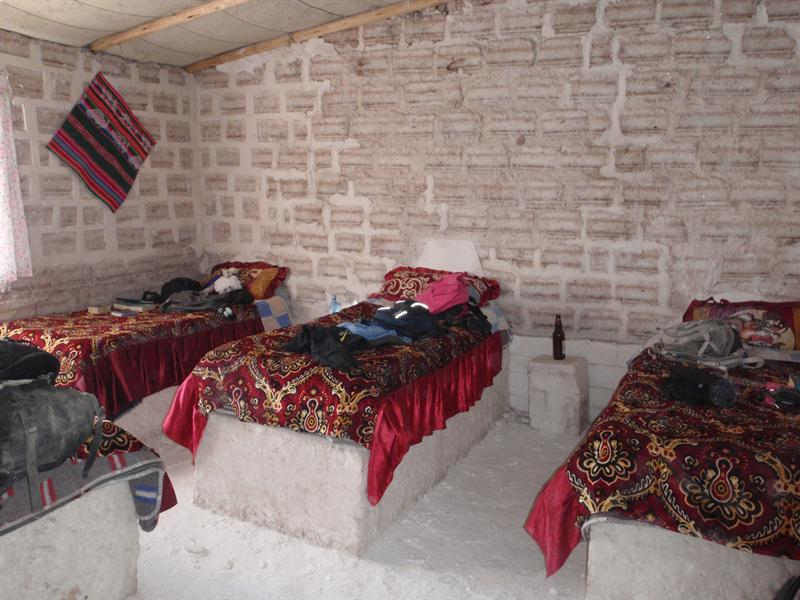 Our Salt Hostel, more comfortable beds than they looked!!