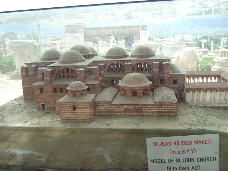 Model of Basilica of St John, Selcuk