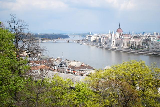 The River Danube runs right through the city