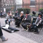 Christmas music by street musicians...