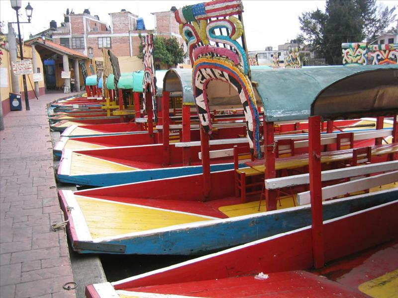 The colorful boats of Xochimilco