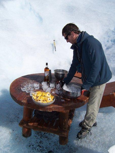PERITO MORENO GLACIAR, P N LOS GLACIARES, EL CALAFATE, ARGENTINA - DRINKS TIME, ON ICE...