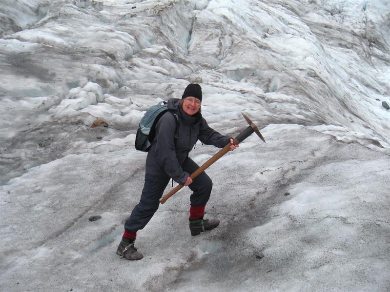 Frances on the glacier