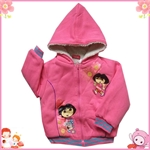 Product Name :4-7-year-old girl cashmere lining coat Dora Goods Model :4-7Y size table Goods Unit: Products: 87 MOQ: 4 Suggested retail price: USD Wholesale price: USD 8