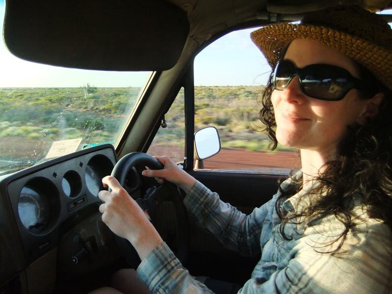 Me behind the wheel