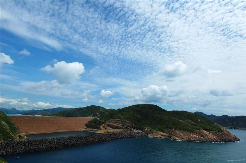 The East Dam of High Island Reservoir from Po Pin Chau