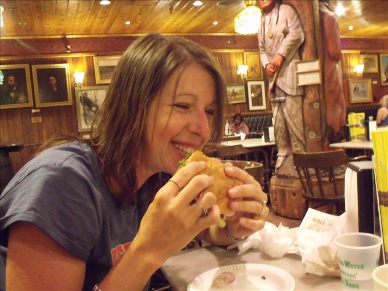 Buffalo burger, yum