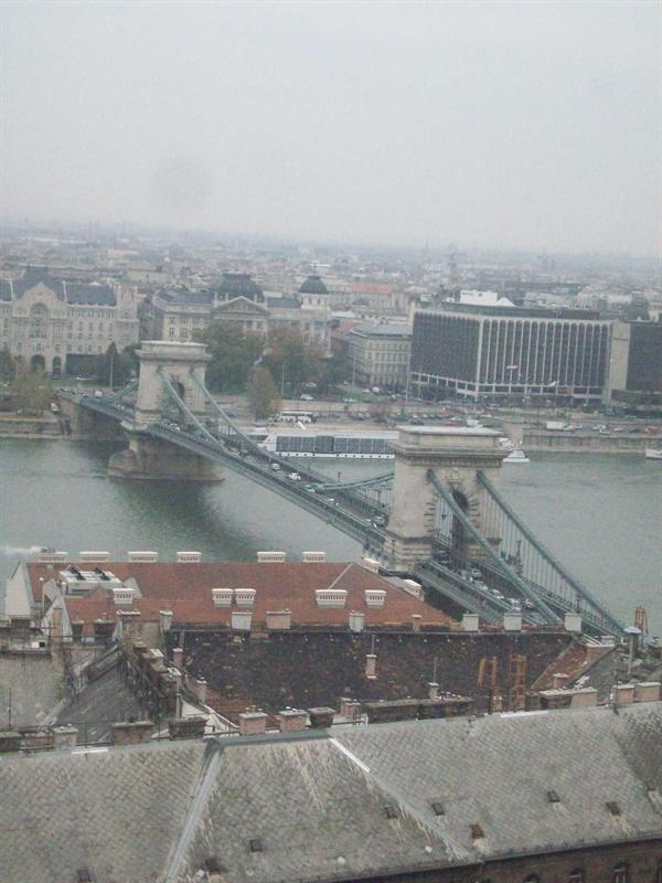 The chain link bridge, the only one left post war. Thats why its so narrow and pretty!