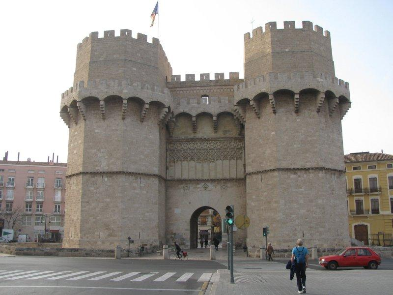 Entry gate into Valencia.
