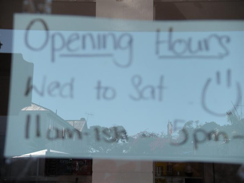 Typical Kiwi's Laid back attitude to opening times