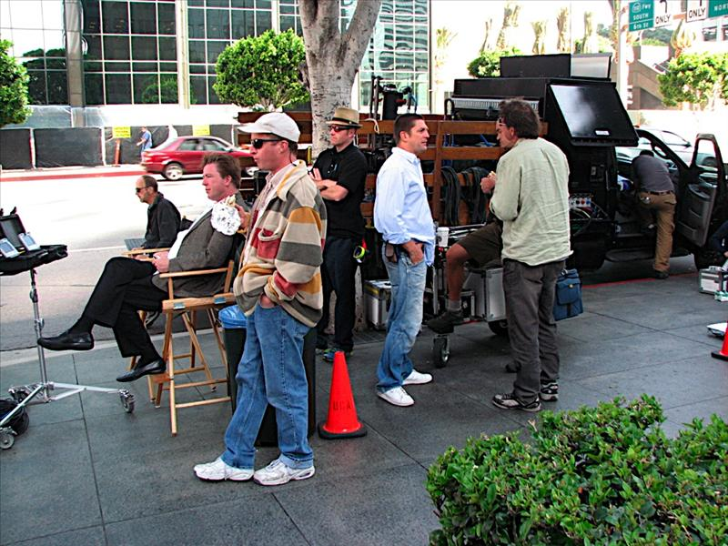 Making a commercial on the streets of LA