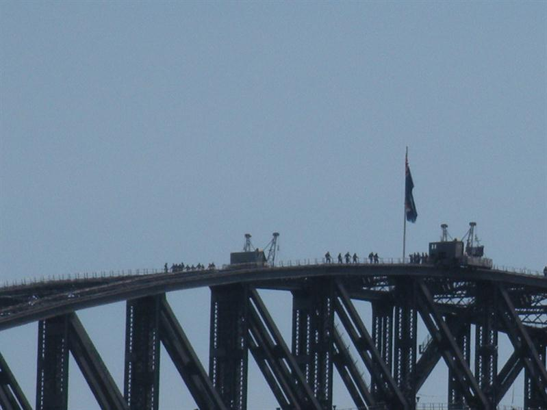 Climbers on the Harbour Bridge