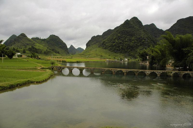 15-hole Stone Arch Bridge in the Qing Dynasty清代十五孔古橋