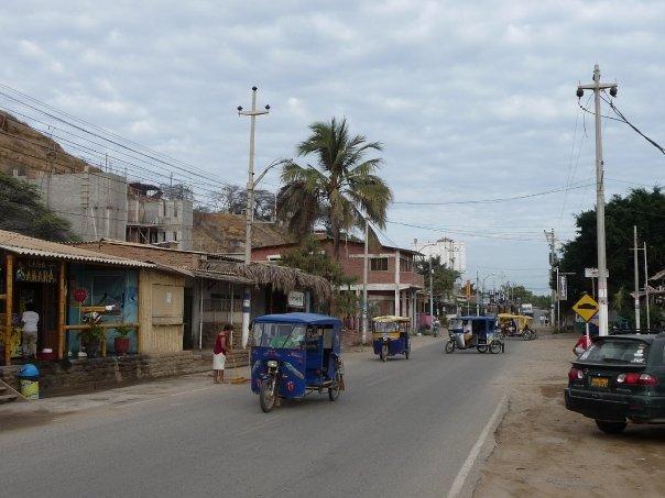 Main road loooking South