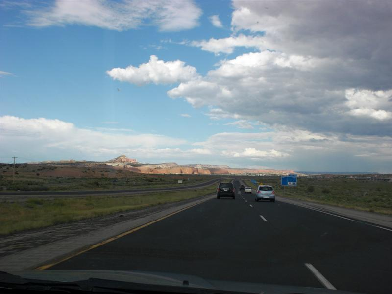 Nearing NM border