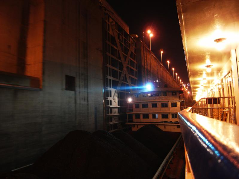 entering the second lock